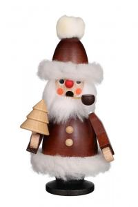 Mini Räuchermann Weihnachtsmann natur