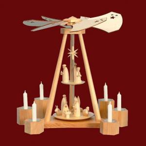 Deltapyramide Die Weihnachtsgeschichte für Kerzen und Teelichter