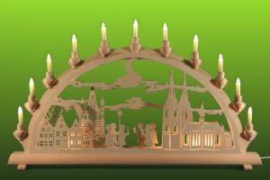 Lichterbogen Motiv Kölner Dom mit Kurrende groß
