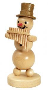 Schneemannmusikant mit Panflöte