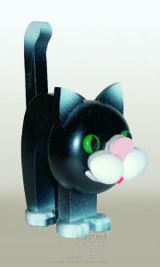 Lustiger Brillenhalter Katze schwarz