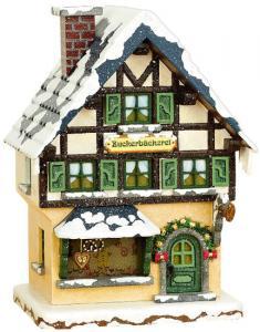 Winterhaus Zuckerbäckerei, elektrisch beleuchtet
