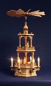 Pyramide2-stöckig mit Christi Geburt natur elektrisch beleuchtet