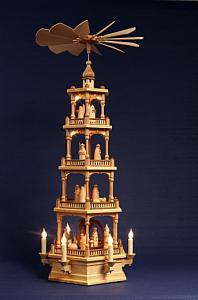 Pyramide 4 stöckig Christi Geburt natur