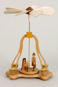 Tischpyramide mit Christi Geburt