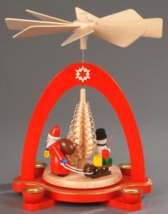 Tischpyramide rot Beschehrung