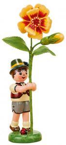 Blumenjunge mit Tagetes 11cm