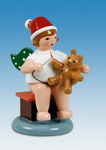 Engel mit Teddy und Faden