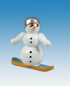 Schneemann - Snowboardfahrer
