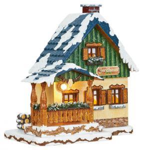 Original Hubrig Winterhaus Forsthaus elektrisch beleuchtet