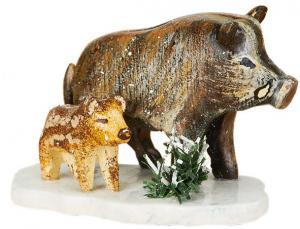Original Hubrig Winterkinder - Wildschweine NEU 2014