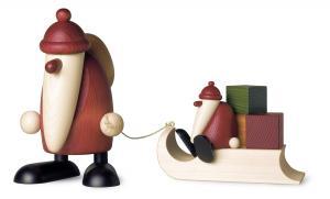 Björn Köhler - Weihnachtsmann mit Geschenkeschlitten und Kind groß