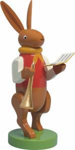 Hasenmusikant mit Liederbuch und Flöte