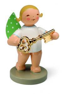 Goldedition Nr. 8 Schatzmeister, Engel mit Schlüssel vergoldet