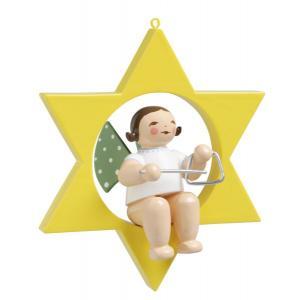 Engel mit Triangel, im Stern
