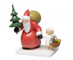 Weihnachtsmann mit Baum und Engel Neu 2016