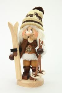 Räuchermann Wichtel Skifahrer