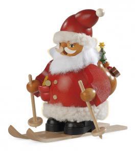 Räuchermann, klein Weihnachtsmann auf Skier