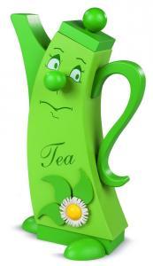 Räucherfigur, modern Teekanne