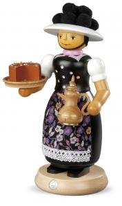 Räuchermann groß Schwarzwaldfrau mit rauchender Kanne