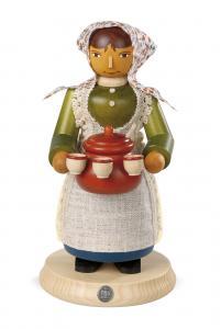 Räuchermann groß Glühweinverkäuferin