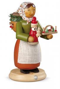 Räuchermann groß Holzspielzeugverkäuferin