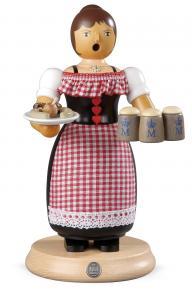 Räuchermann groß Oktoberfest-Kellnerin