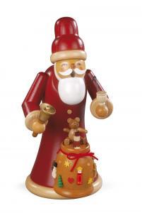 Räuchermann groß Weihnachtsmann mit Geschenken