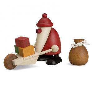 Miniaturset 3 - Weihnachtsmann mit Schubkarre und Sack