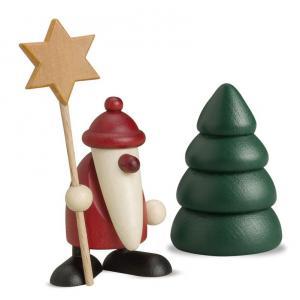 Miniaturset 5 - Weihnachtsmann mit Stern und Baum