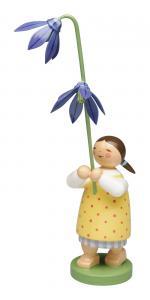 Blumenkind Mädchen mit Blaustern