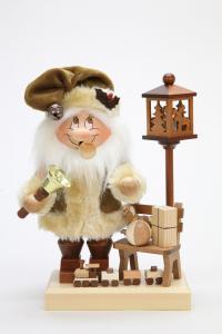 Räuchermann Wichtel Weihnachtsmann mit Bank