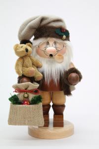 Räuchermann Wichtel Weihnachtsmann mit Teddy