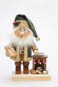 Räuchermann Wichtel Weihnachtsmann am Kamin