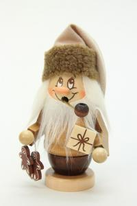 Räuchermann Miniwichtel Weihnachtsmann mit Päckchen