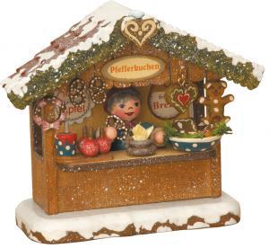 Winterkinder Pfefferkuchenhäusel elektrisch beleuchtet