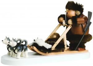 Räuchermann Eskimo mit Hundeschlitten