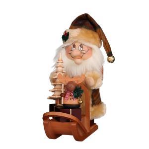 Räuchermann Wichtel Weihnachtsmann mit Schlitten NEU 2019