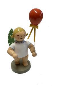Grünhainicher Engel mit Luftballon, rot NEU 2019  HAARFARBE  BLOND!!!!