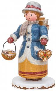 Räuchermann Winterkinder Lebkuchenhändlerin +Räucherkerzen gratis