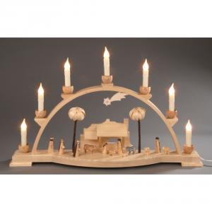 Seiffener Schwibbogen Christi Geburt, elektrisch beleuchtet