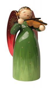 Wendt und Kühn Engel reich bemalt, grün, mit Violine NEU 2020