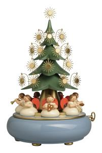 Wendt & Kühn Spieldose mit unter dem Baum sitzenden Engeln  BITTE ANFRAGEN!!