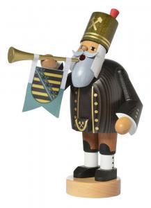 KWO Räuchermann Bergmann mit Trompete Die Bärtigen