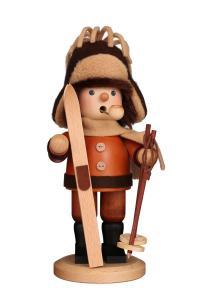 Räuchermann Skifahrer natur NEU 2020