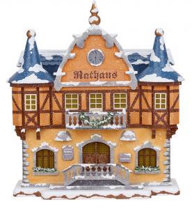Winterkinder Winterhaus Rathaus, elektrisch beleuchtet NEU 2020