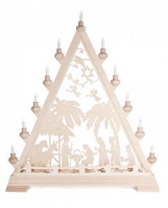 Lichterspitze Motiv Christi Geburt , mit Vorbeleuchtung