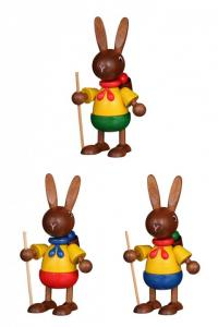Hasenwanderer farbig sortiert 3er Set