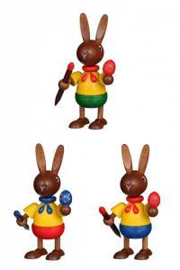 Hasenmaler farbig sortiert 3er Set