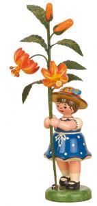Blumenmädchen mit Edelweißmargerite 17 cm
